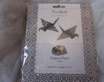 Paris Monochrome Origami Paper