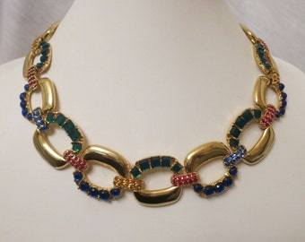 Vintage Designer Scaasi Couture Crystal Rhinestones Necklace