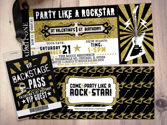 Perfect Like This Item? In Concert Ticket Birthday Invitations