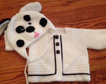 Dalmatian sweater set