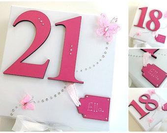 Personalised Birthday Keepsake Box Large Memory 18th 21st 30th 40th 50th 60th