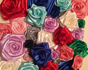 Satin rolled rose Grab Bag!