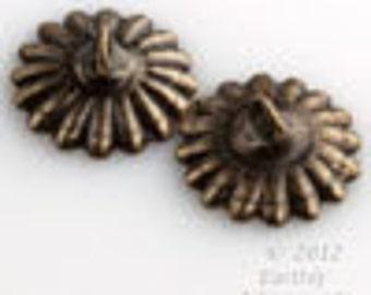 Oxidized brass 10mm up-eye bead cap  12 pcs. b9-2249(e)
