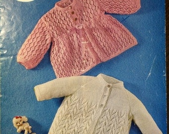 Knitting Pattern babies cardy's