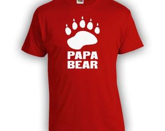 Papa Bear 2.0 Fathers Day Gift - Dad Shirt Step-Dad Step-Father Mens Clothes Birthday Shirt TShirts Shirts New Dad CT-326
