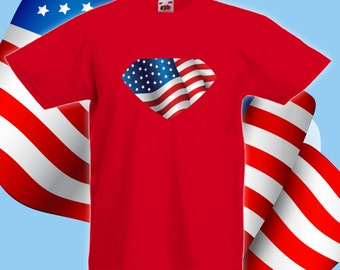 American hero kids shirt, baby onesie, baby bodysuit, 4th of july tshirt, baby's first 4th of July, first fourth of july shirt - CT-039