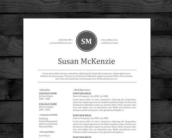 Resume CV Template Mac PC Free