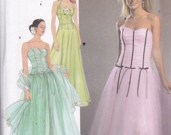 Simplicity 4686 Vintage Pattern Womens Prom Dress, Bridesmaid Dress, Formal Dress, Strapless Evening Gown in Variations Size 12,14,16,18,20