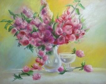Soft flowers (framed)