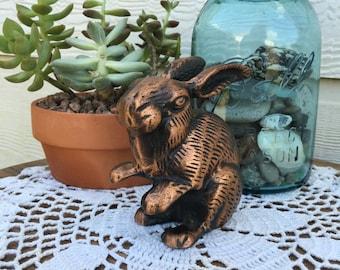 Vintage Copper Rabbit Figure