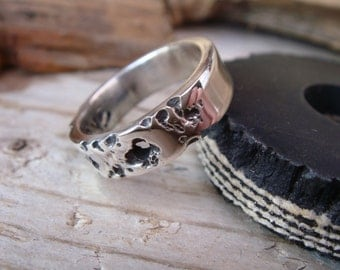 Rugged Rock Solid Sterling Silver Ring