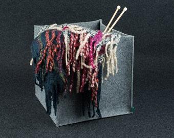 M/L box, dog toy basket, felt storage box, storage basket, lego storage, household storage, Gopher
