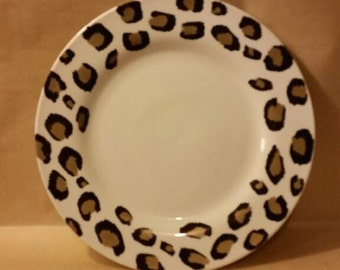 Fierce and Sassy Leopard Print Plate