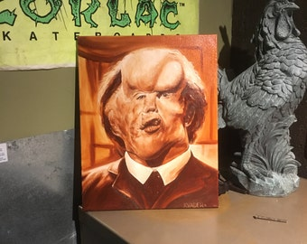 Elephant man oil painting