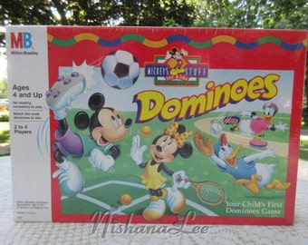 New 1995 Mickeys Stuff For Kids Dominoes by Milton Bradley