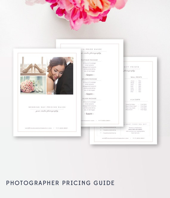 pricing guide template for wedding photographers digital