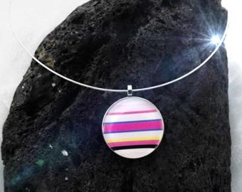 Rainbow Candy Colourful Funky Pendant - Customise This