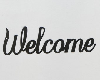 "Welcome sign #3 - Metal Wall Sign - 12"" - (GG8---)"
