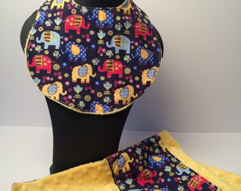 Bib and burp cloth set for baby   gift for baby   baby shower gift   gift for new baby