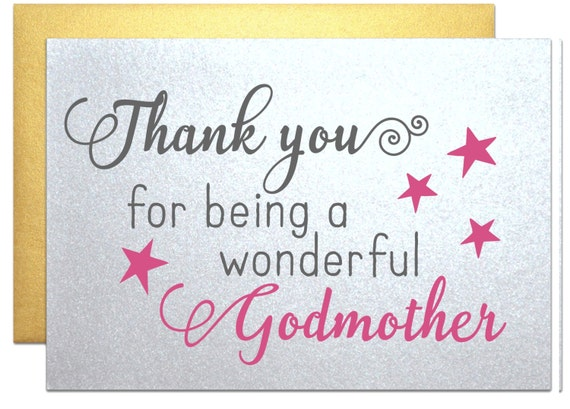 Gift For Godmother Godmother Gift Mothers Day Gift: Card For Godmother Gift Note Thank You For Being A By