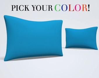 Pillow Sham, Standard Size Pillow, Solid Bed Pillow, Printed Pillow Cover, Standard Sham