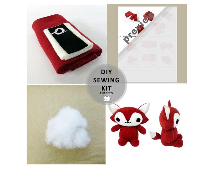Plush Fox Sewing Kit