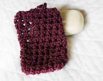 Hemp Soap Saver, Crocheted Soap Bag or Pouch, Eco-friendly Shower Sack, Exfoliating Soap Holder