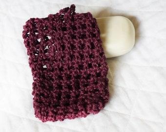 Hemp Soap Saver, Crocheted Soap Bag or Pouch, Eco-friendly Shower Sack, Exfoliating Soap Holder, Crochet Hemp Soap Sock