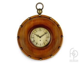 gallery wall clock oversized pocket watch trend clocks zeeland mich windup solid wood and brass