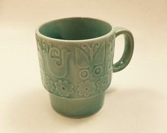 Aqua Japanese Coffee Cup