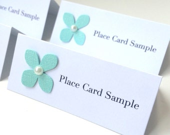Handmade Flower Place Card | Wedding Place Card | Printed Place Card