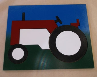 Red and White Tractor Puzzle