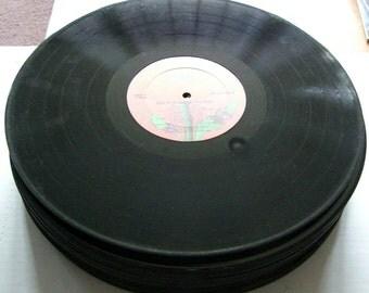 "BULK LOT of 10 - 12"" Vinyl Record Albums - LP's - For Arts & Crafts, Repurpose"