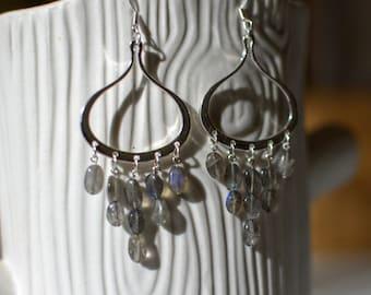 Labradorite Tears Earrings