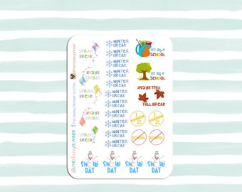 School Holidays Stickers | planner stickers