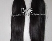 Virgin Hair Extensions/Virgin Hair Bundles/ Two Bundle Deals - Natural Straight Texture