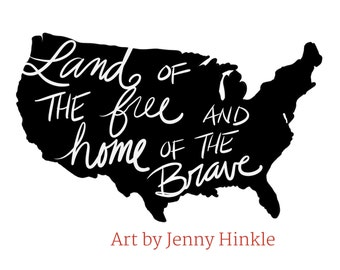 Land of the Free 11x17 Print