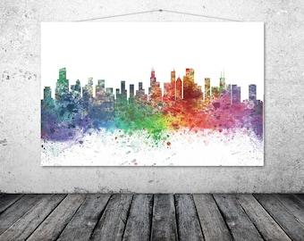 Chicago, Chicago City Skyline - Chicago Art - CHICAGO 1