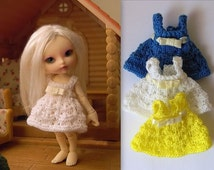 Knitted dress for Realpuki doll (free shipping)