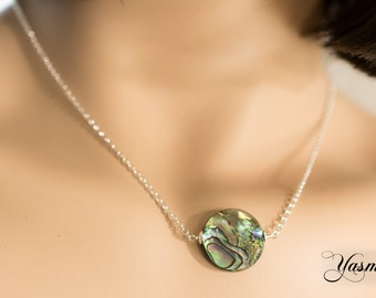 Paua Shell disc on Sterling