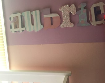 Custom hand painted letters