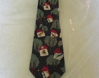 """Rare Beatles necktie -  """"Norwegian Wood"""""""