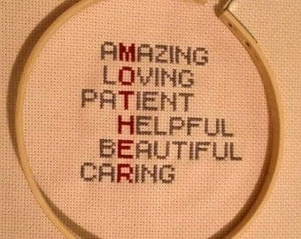 Mother's Finished Cross Stitch