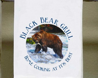 Black Bear Grill, Kitchen Towel, Dish Towel, Home Cooking At Itu0027s Best ,