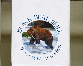 Lovely Black Bear Grill, Kitchen Towel, Dish Towel, Home Cooking At Itu0027s Best ,