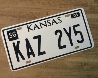 Supernatural Impala License Plate Necklace