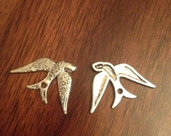Set of 2 Swallow Charms