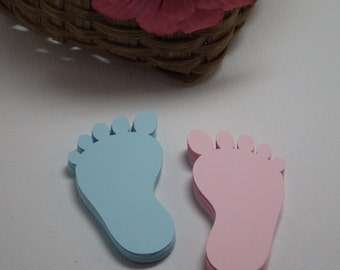 Baby feet Die Cuts Set of 100 PC, Baby Shower, Embellishments, Scrapbooking, Card Making, Confetti, Gender Reveal,  Tags, Invites VTC-0175
