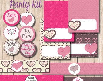PRINTABLE Valentine Party Kit