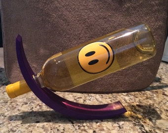 Curved wine bottle holder, 3d printed, made in usa,
